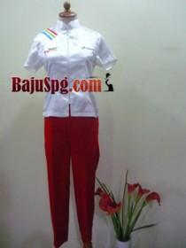 baju spg pertamina pertamax merah papua 2 front