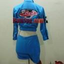 Seragam SPG Suzuki lets biru back