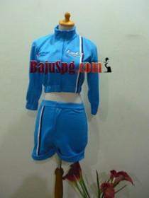 Seragam SPG Suzuki lets biru front