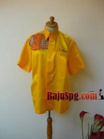 Seragam kemeja SpB Indosat front