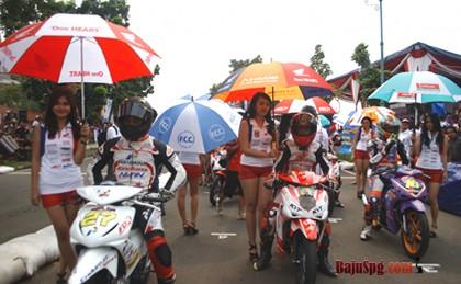 Seragam Baju SPG Umbrella Girl Honda Racing Championship 2013