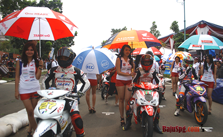 Seragam Baju SPG Umbrella Girl Honda Racing Championship 2013