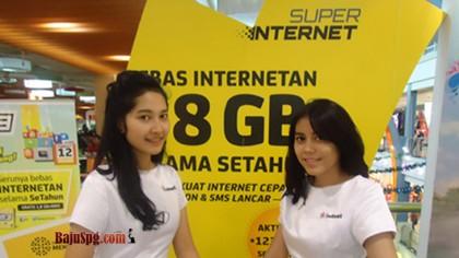 Baju Seragam SPG Indosat di Margo City