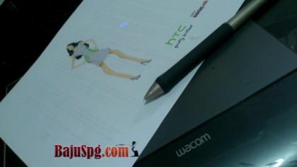 Desain Baju Seragam SPG HTC One 2014