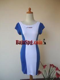 Baju Seragam SPG Biru Pertamina front