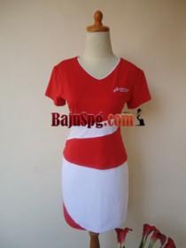 Baju Seragam SPG Merah Pertamina front