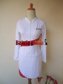 Baju Seragam SPG Putih Pertamina front