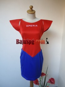 Baju Seragam SPG Spiderman Sony XPERIA front
