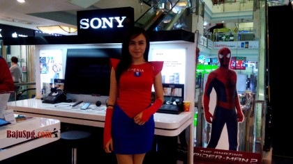 Baju Seragam SPG Spiderman2 Sony XPERIA Event Mall Ambasador