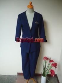 Blazer Biru Mutiara Bekasi front