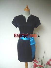 Baju Seragam SPG Carrefour (Beauty Advisor) Biru front