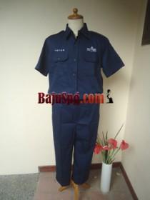 Baju Seragam Kemeja Mutiara Bekasi Biru front