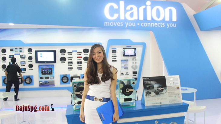 Seragam SPG Clarion Event IIMS Jakarta 2014