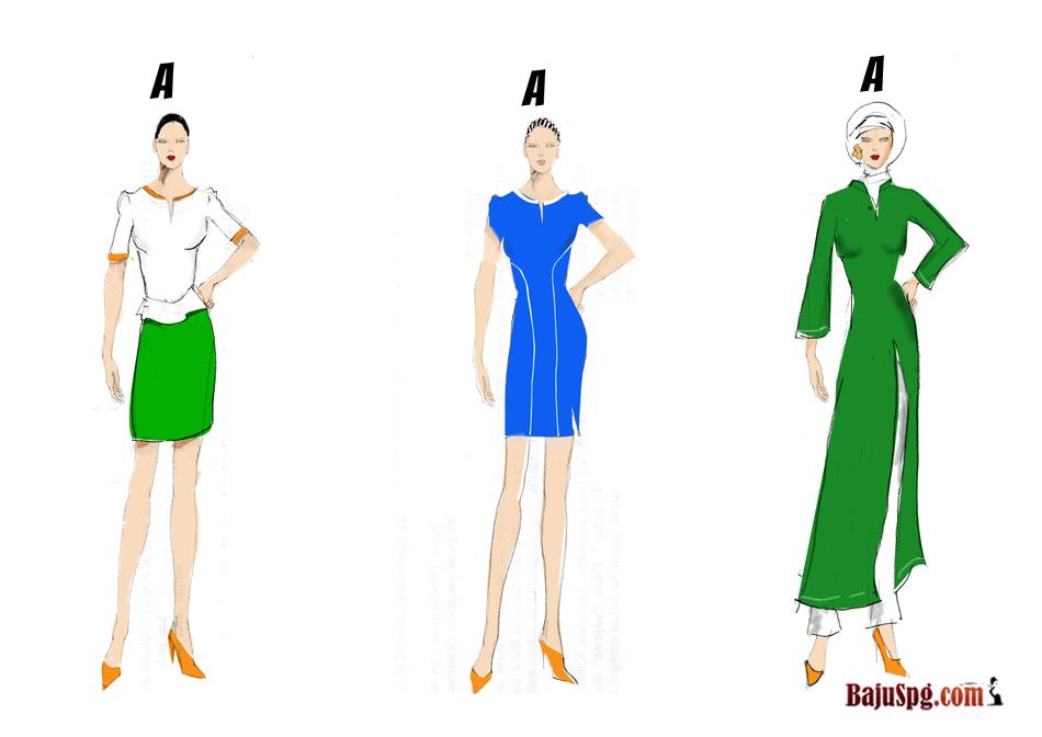 Desain Sketch Seragam Baju SPG ATM PRIMA