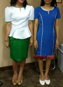 Seragam SPG ATM Prima Biru dan hijau