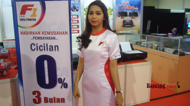 Baju Seragam SPG F1 Event Mega Bazaar 2015 JCC