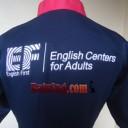Baju SPG Dress EF logo back