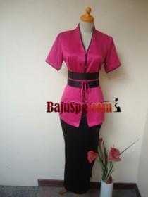 Baju Seragam SPG Pink Mandiva Spa front