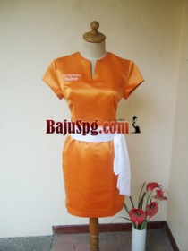 Baju Seragam SPG Avene Orange front