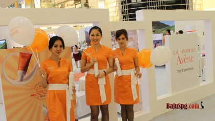 Baju Seragam SPG Avene launching produk skin care