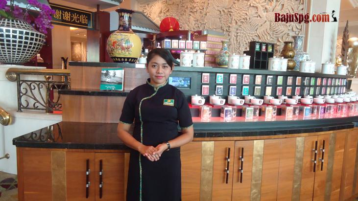 Baju SPG Promosi Dilmah Moon Cake Shangri-La Hotel