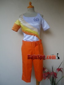 Seragam SPG Kis orange front