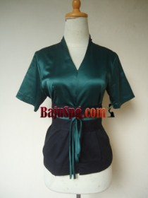 Baju Seragam Hitam SPG Mandiva front