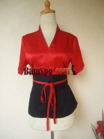 Baju Seragam Merah SPG Mandiva front
