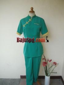 Baju Seragam SPG PROSPINE CLINIC Hijau front