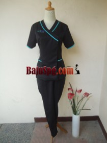 Baju Seragam SPG PROSPINE CLINIC Hitam front