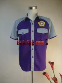 Baju Seragam SPG Biru Alcatel front