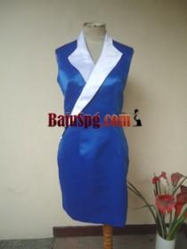 Baju Seragam SPG Biru Alpha front